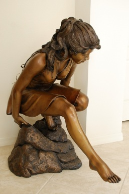 Reflective Moments Bronze by Ruth Gee